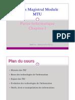 Seance1 Cours Magistral Module MTU Info 2010