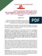 Fatwa Du Comité Permanent de l'Ifta