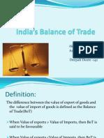 India's Balance of Trade