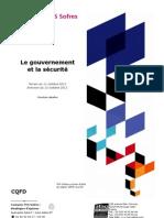 Les Français, le gouvernement et la sécurité