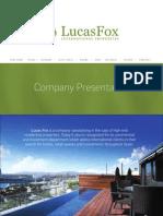 Company Presentation Lucasfox