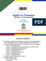 English for Translation Class6 Module7 (20121014)