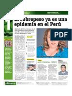 El sobrepeso es ya una epidemia en el Perú