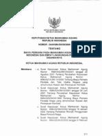 044_kma_sk_iii_2009-Biaya Perkara Pada Mahkamah Agung Republik Indonesia Dan Empat Llngkungan Peradilan Dibawahnya