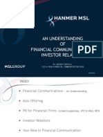 An Understanding of Financial Communications and Investor Relations