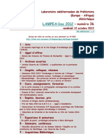 LAMPEA-Doc 2012 – numéro 36 / vendredi 12 octobre 2012