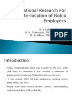 Presentation on Nokia Transportation Feasibility Study