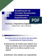 Simplificación de Circuitos Secuenciales