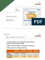 Upselling Creding Cards Throug EMI