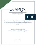 """""""Los mecanismos de presión política en la gestión pública"""