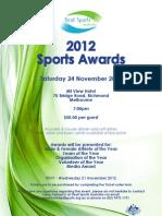 2012 DSA Sports Awards Flyer
