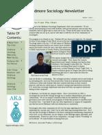 Fall 2012 Skidmore Sociology Newletter