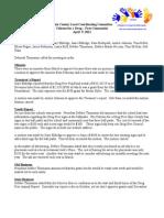 April 2012 Drug Free Minutes