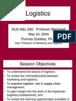 650 ProfGoldsby Logistics Presentation