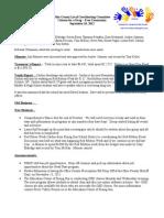 Sept 2012 Drug Free Minutes