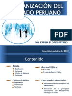 ORGANIZACIÓN DEL ESTADO PERUANO