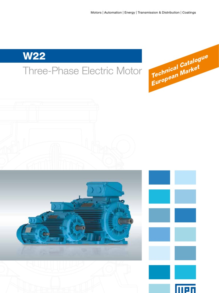 Weg W22 Cooling Tower Motor Wiring Diagram Mkt Three Phase Technical European Market