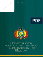 CONSTITUCIÓN POLÍTICA DEL ESTADO DE BOLIVIA
