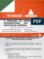 Aula-O problema do Desenvolvimento Organizacional nas Indústrias Gráficas de Campinas/SP.