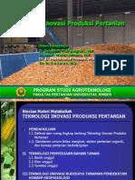 1.1 Definisi Dan Ruang Lingkup Teknologi Inovasi Produksi Pertanian