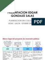 Experiencia Planificación en Colombia