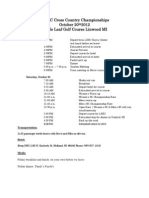 LSSU Itinerary for GLIAC Cross Country Championships 2012