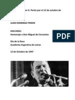 Discurso de Juan D. Perón el 12 de octubre de 1947