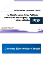 Experiencia Planificación en la República del Paraguay