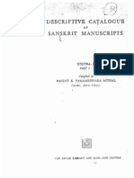 Descriptive Catalogue of Sanskrit Manuscripts Stotras Part-I - Compiled by Parameshwara Aithal
