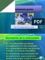 La Miastenia Gravis. Ps. Jaime Botello Valle