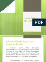 Java-InteracciónJavaBasedeDatos
