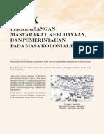 10. Perkembangan Masyarakat, Kebudayaan Dan Pemerintahan Pada Masa Kolonial Eropa
