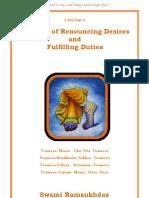Benefits of Renouncing Desires and Fuliflling Duties  -  Swami Ramsukdas ji