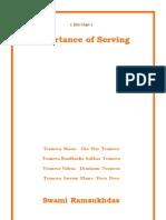 Importance of Serving  -  Swami Ramsukdas ji