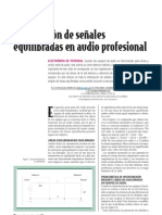 Equilibrio de Impedancias en Audio Profesional