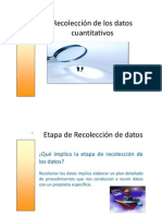 Recolección de los datos en una evaluación