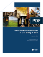 Economic Contributions of U.S. Mining in 2010