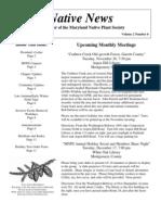 November - December 2002 Native News ~ Maryland Native Plant Society