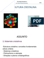 Aula 06 - Estrutura Cristalina