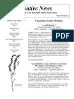 November - December 2004 Native News ~ Maryland Native Plant Society