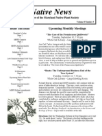 September - October 2008 Native News ~ Maryland Native Plant Society