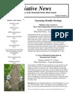September - October 2009 Native News ~ Maryland Native Plant Society
