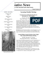 November - December 2009 Native News ~ Maryland Native Plant Society