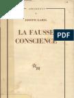 Gabel Joseph  la Fausse Conscience  1962