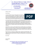 October 12 2012 Octorara High School Bomb Threat Letter