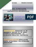 Livelli Di Amputazione e Tecniche Chirurgiche Finalizzate Alla Protesizzazione