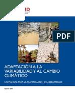 Adaptabilidad al cambio climático USAID 2007