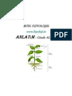 Bitki Fizyolojisi 1.Hafta ders notları