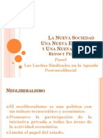 Luchas Sindicales -  Agenda Post-Neoliberal