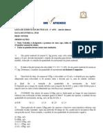 Lista de Exercícios 1o Ano José de Alencar - Física B